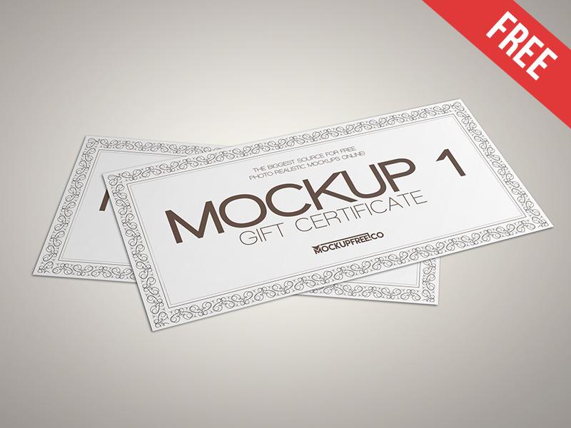 3 Gift Voucher Mockups PSD