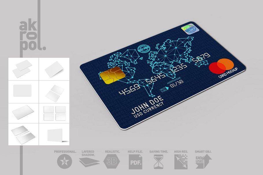 3D Credit Card Mockup Set