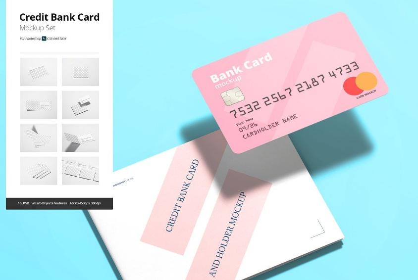 Bank Card Mockup PSD