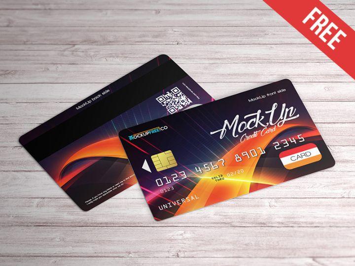 Clean Credit Card Mockup Free Download