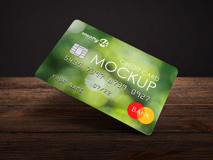 Free 2 Credit Card Mockups