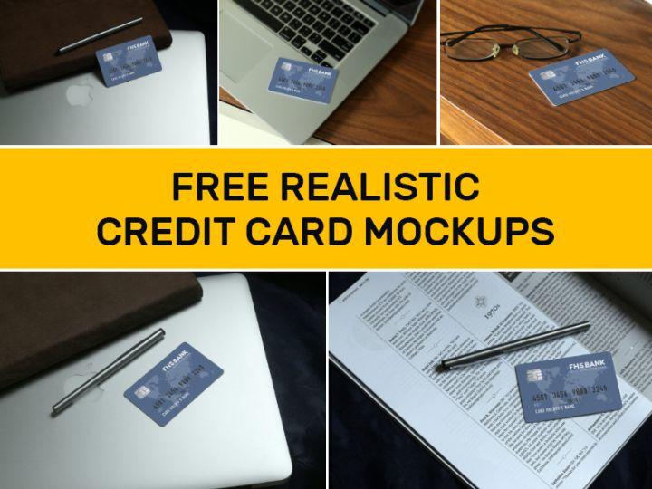 Free Editable Credit Card Mockups