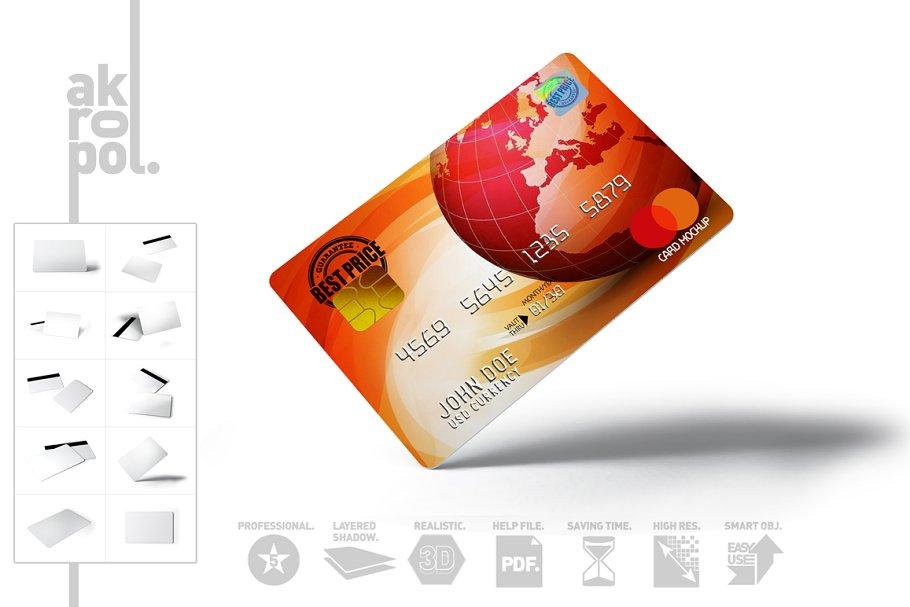 Full Editable Credit Card Mockup PSD