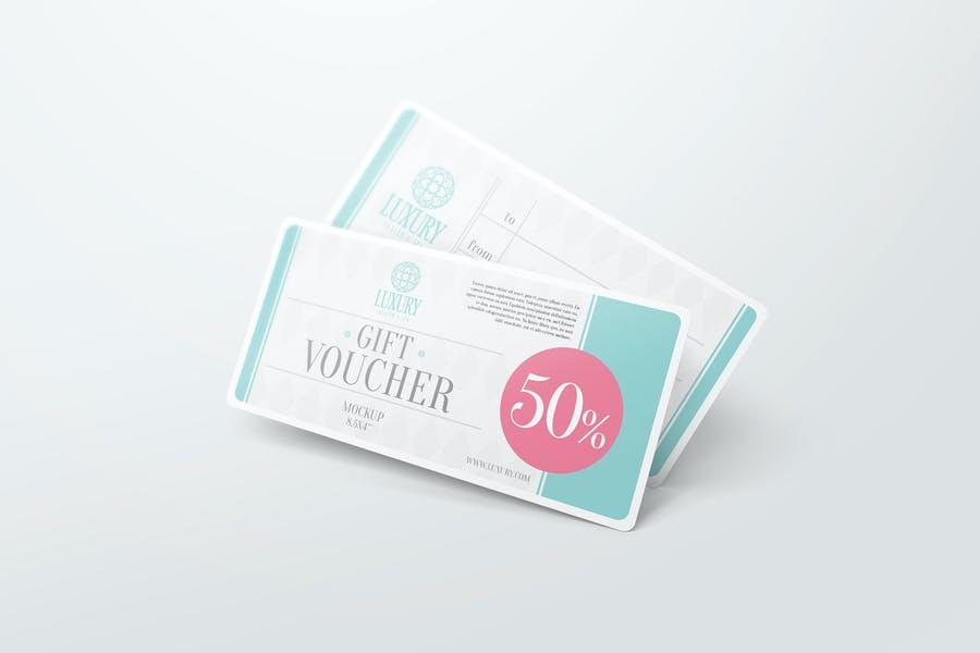 Gift Voucher Mockup PSD Template