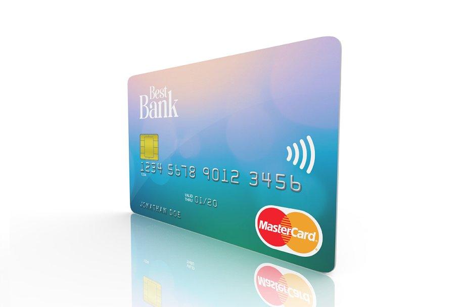 HQ Credit Card Mockup PSD