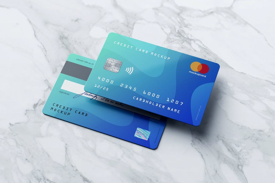 High Quality Credit Card Mockup
