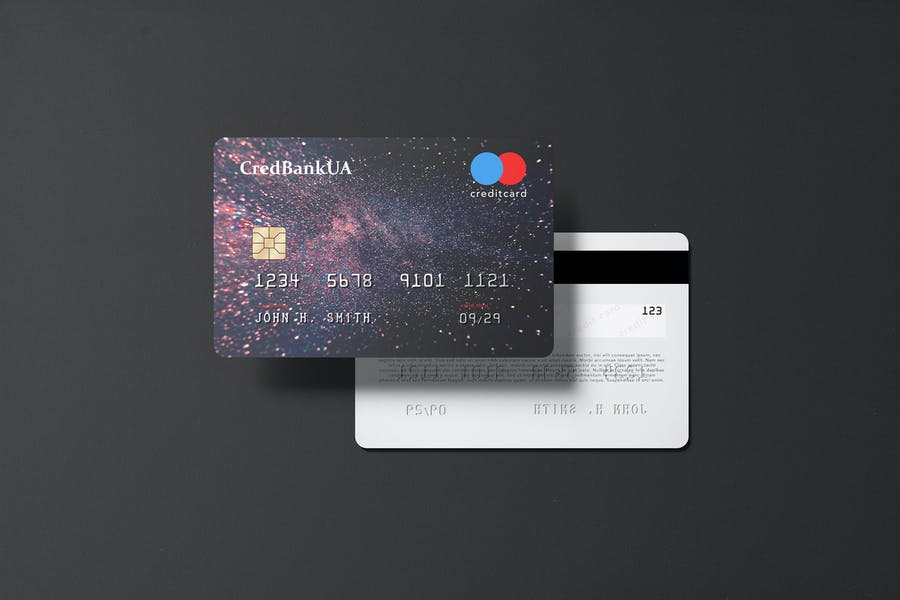 Landscape Credit Card Mockup PSD