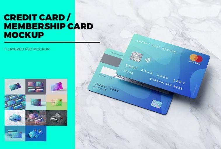 Professional Membership Card Mockup PSD