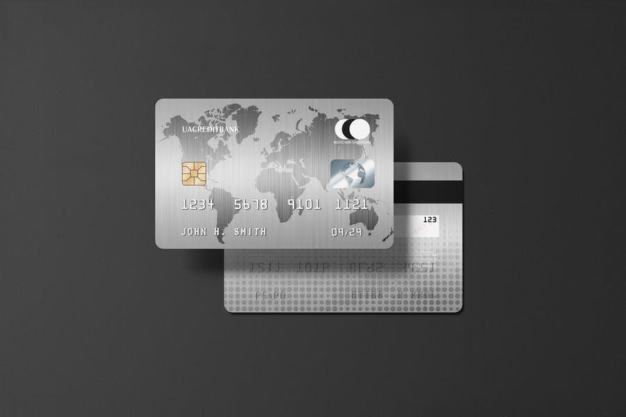 Realistic Platinum Card Mockup