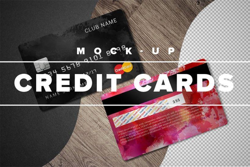 Two Sides Credit Card Mockup