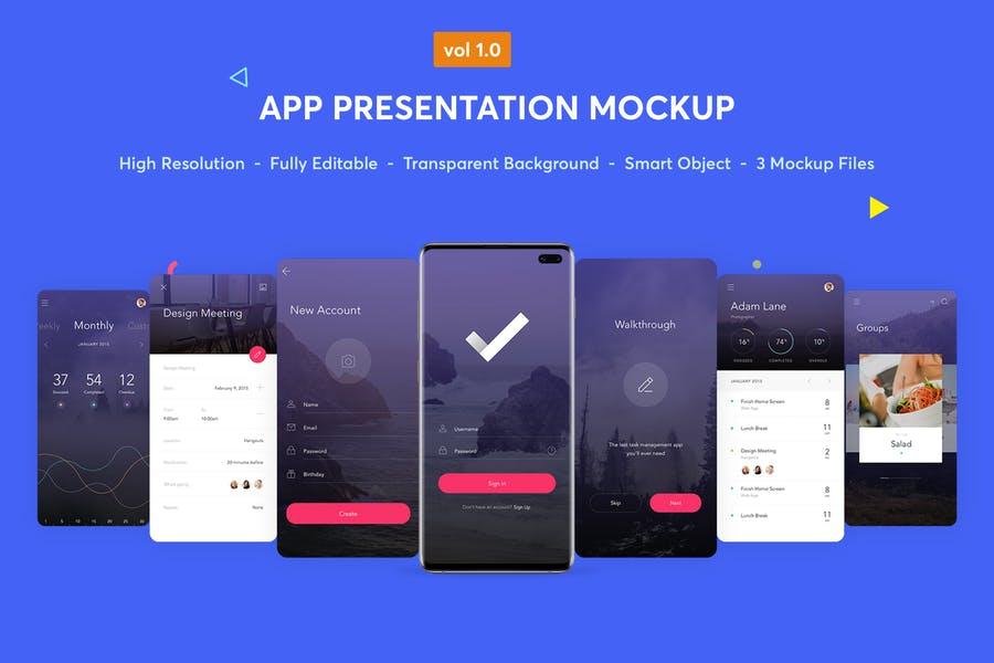 Editable App Design Presentation