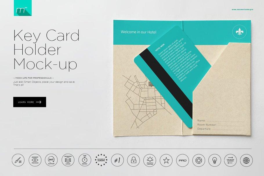 Hotel Key Card Mockup PSD