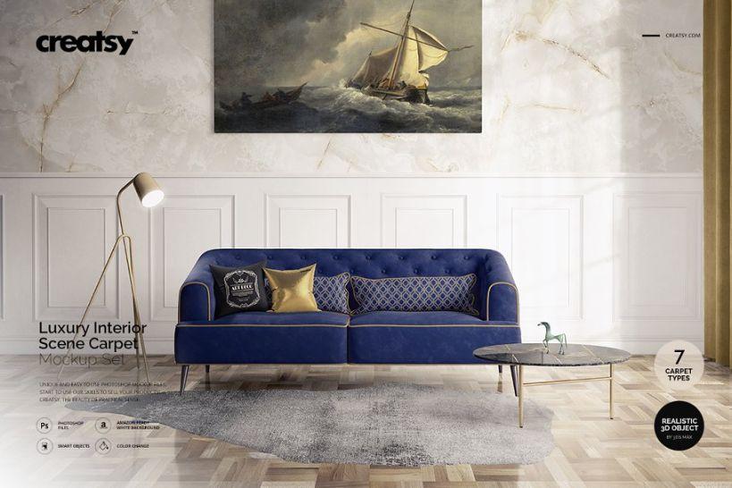 Hotel Luxury Interior Mockup PSD