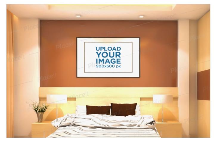 Hotel Room Artwork Mockup PSD