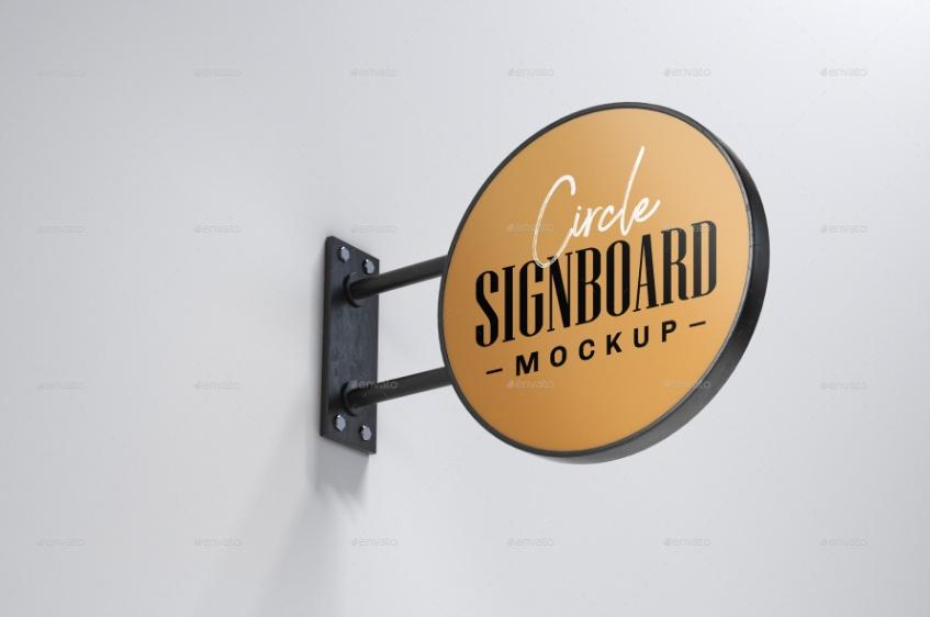 Hotel Signage Mockup PSD