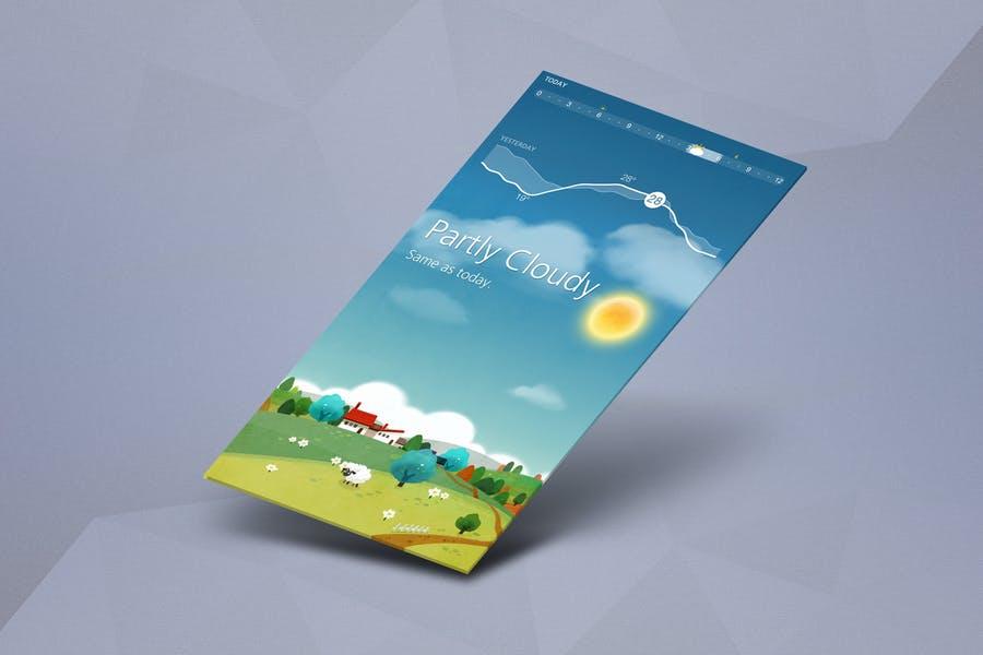 Isometric App Screen Mockups
