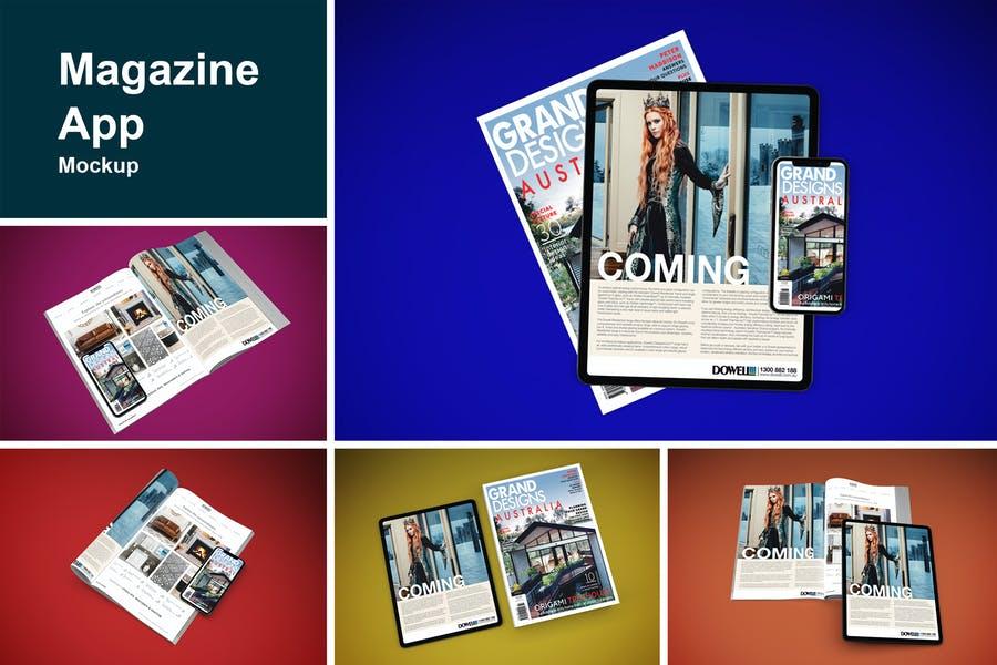 Magazine App Screen Mockups