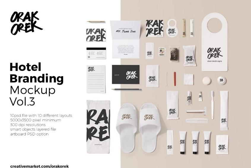 Professional Hotel Branding Mockup PSD
