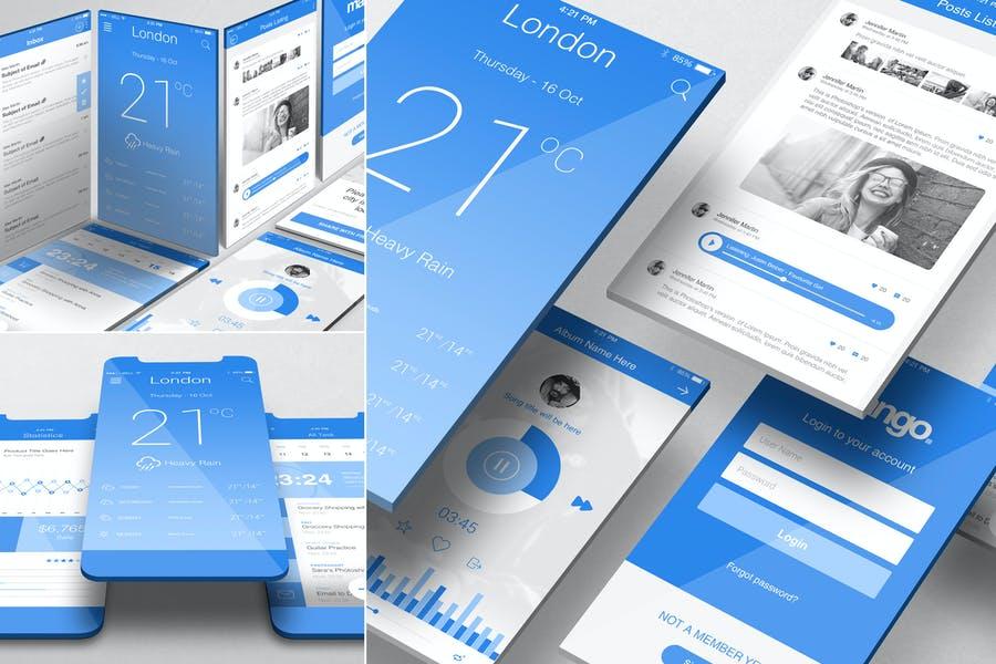 iOS App Screen Mockups