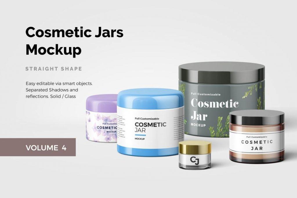 Cosmetics cream Jar Mockup