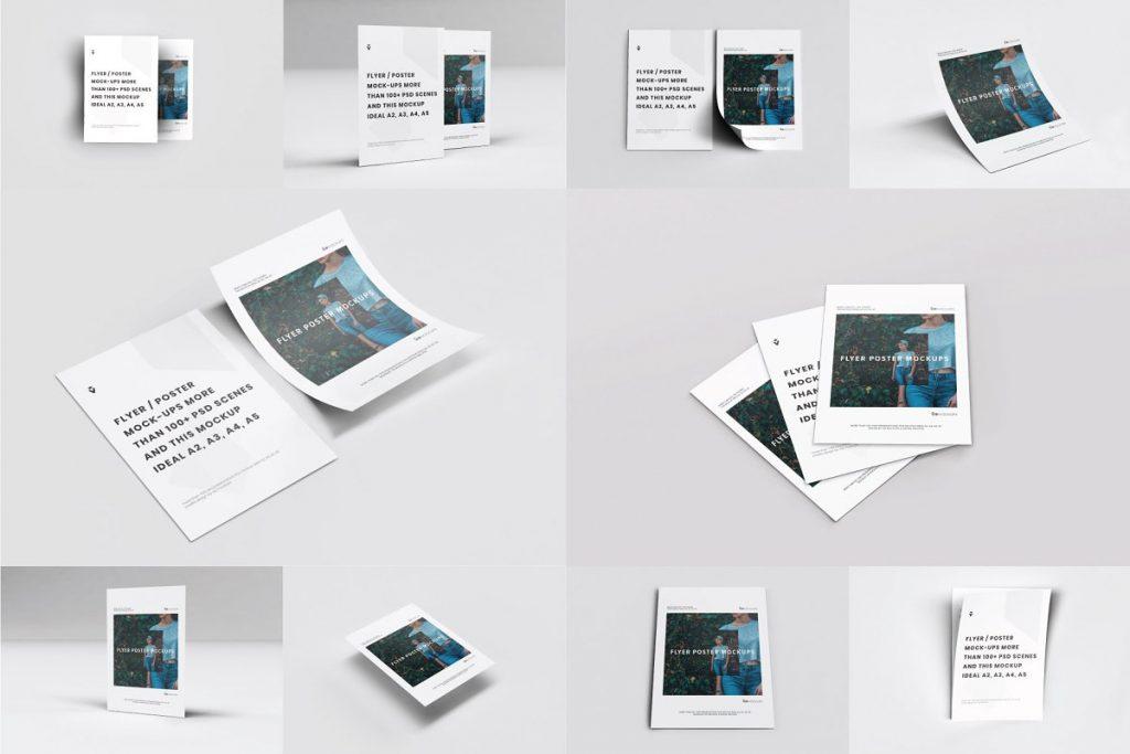 10 Flyer Mockups PSD Pack