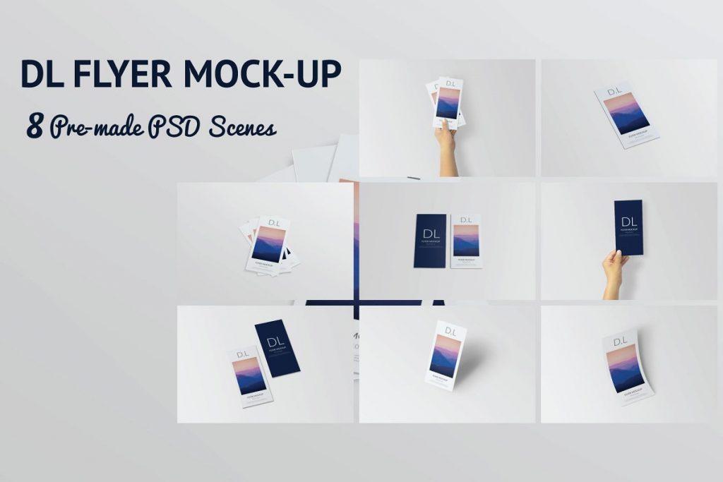 8 Pre Made Flyer Mockup PSD