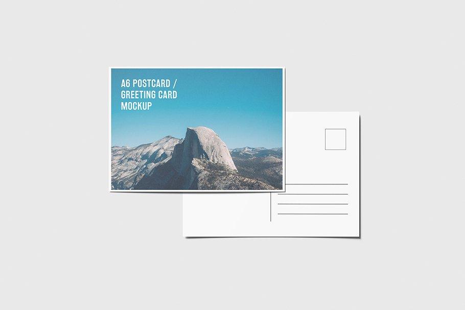 A6 Landscape Flyer Mockup PSD