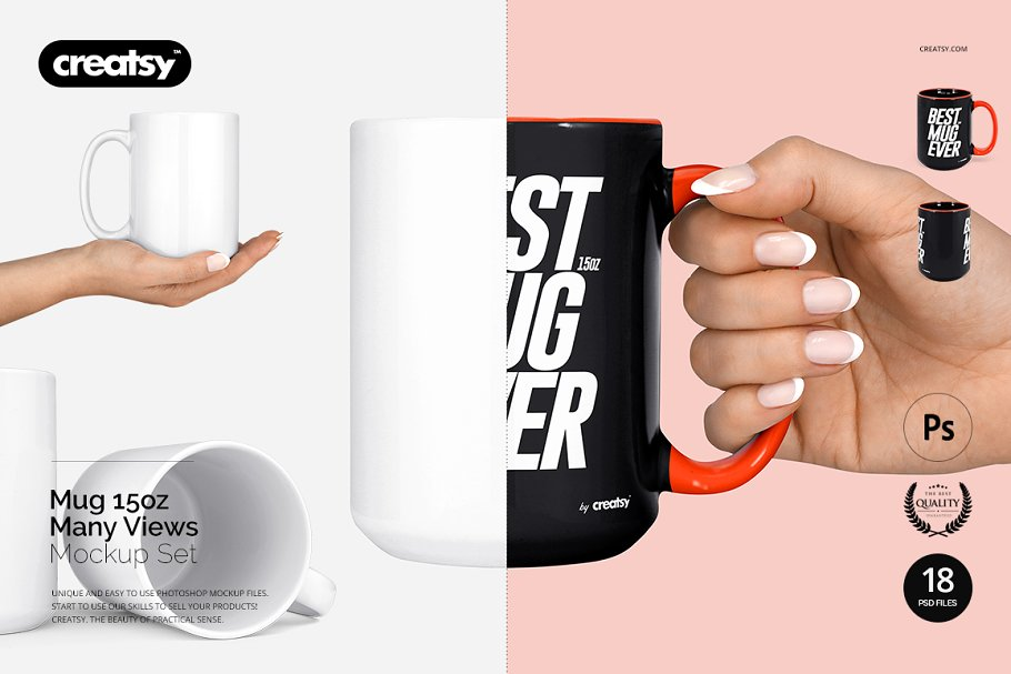 Coffee Mug in Hand Mockup