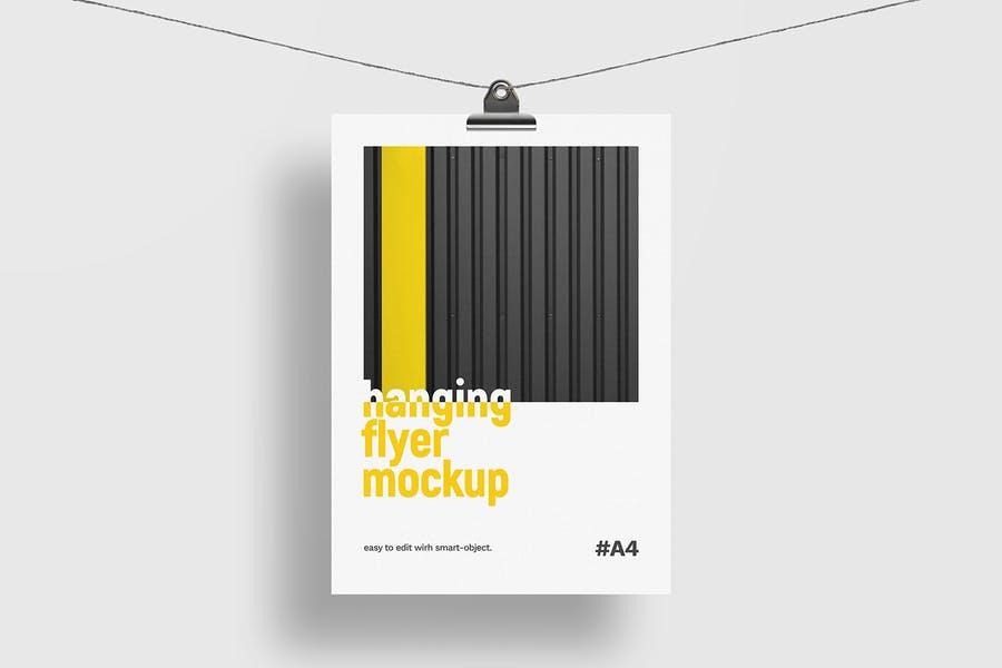 Hanging Flyer Mockup PSD