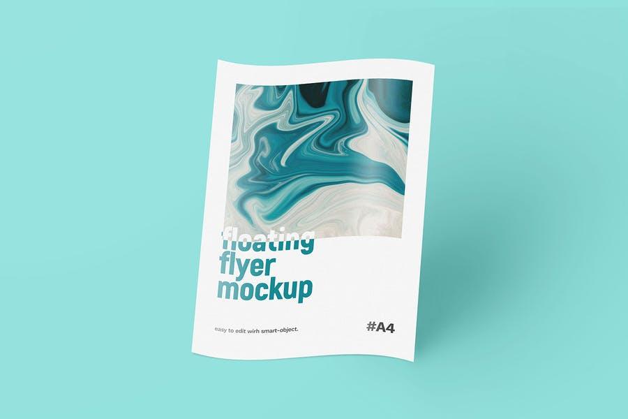 High Resolution Flyer Mockup PSD