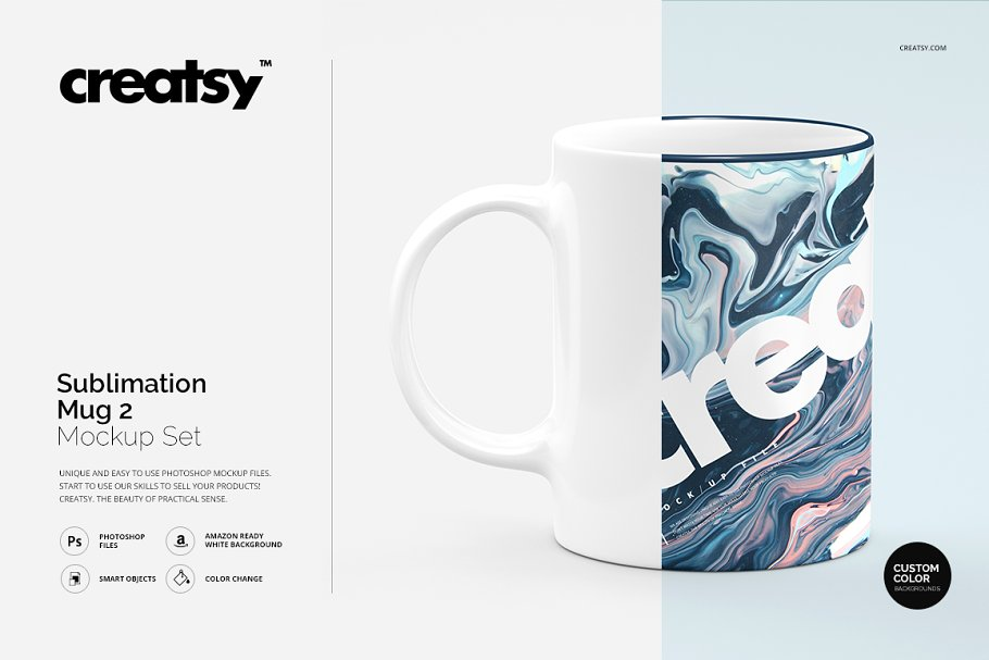 Sublimation Mug Mockup PSD