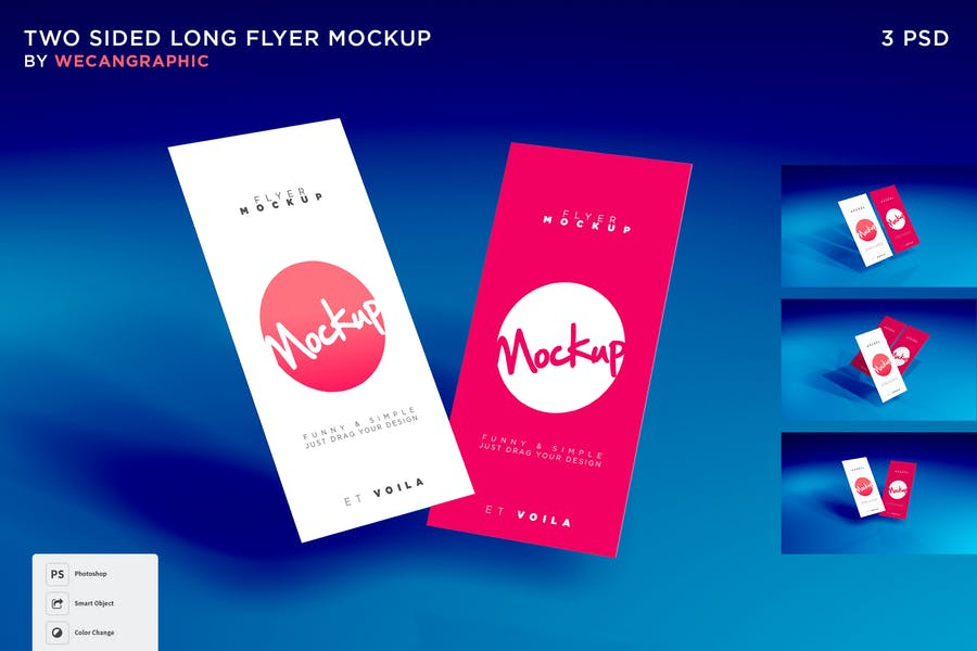 Two Sided Flyer Mockup PSD