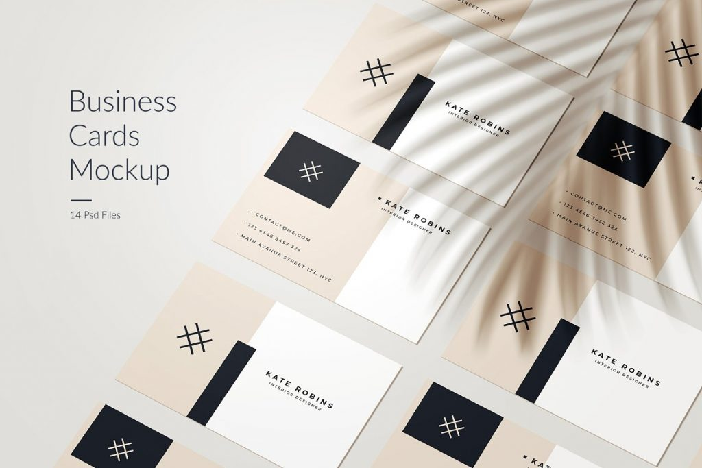 14 Business Card Mockup Styles