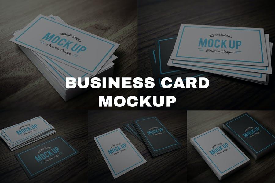 5 Editable Business Card Mockup