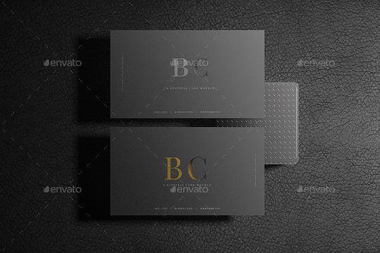 Dark Business Card Mockup