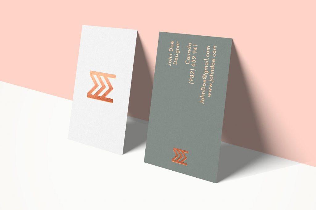 Feminine Business Card Mockup