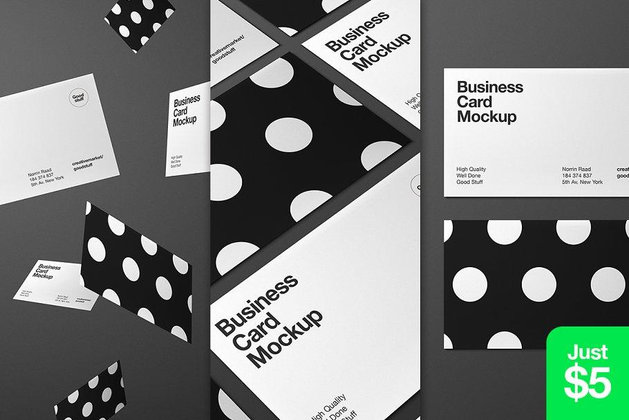 Fully Editable Business Card Mockup