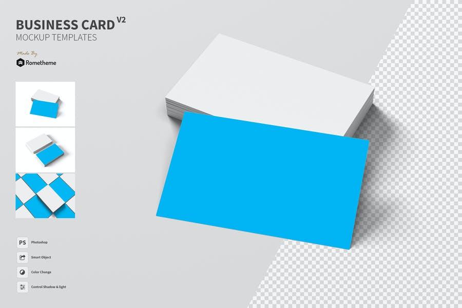High Quality Business Card Mockup