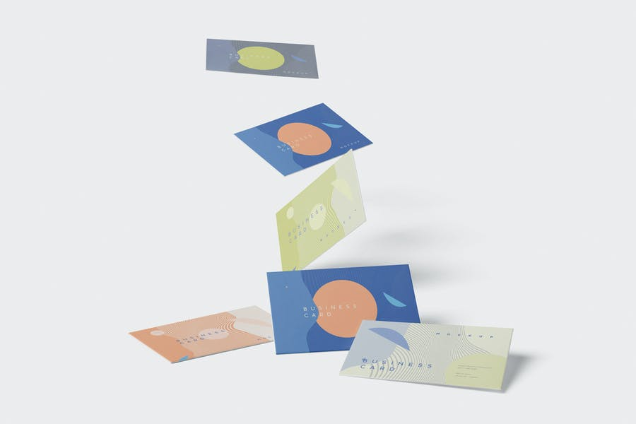 In Air Business Card Mockup