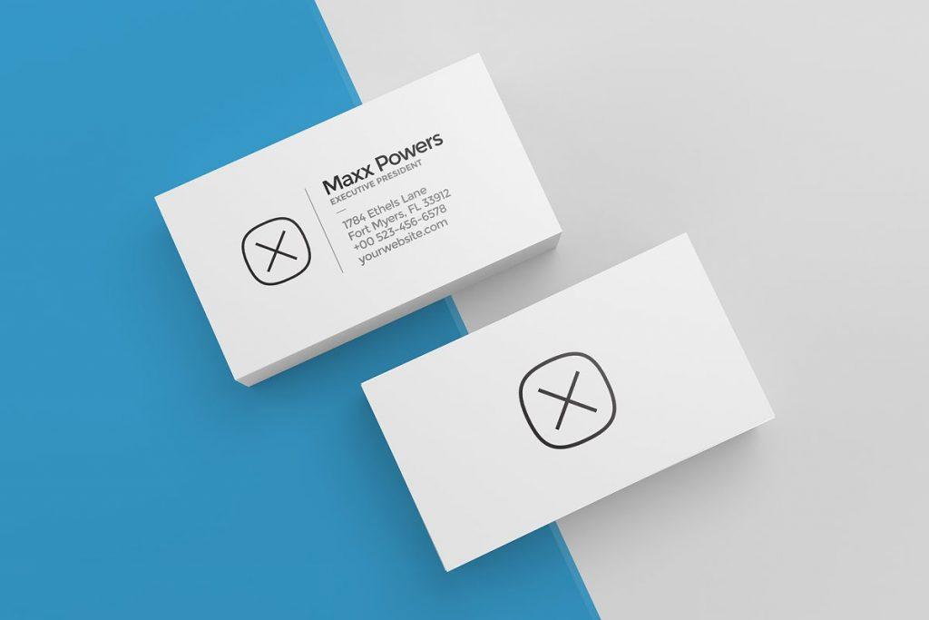 Simple Blank Business Card Mockup
