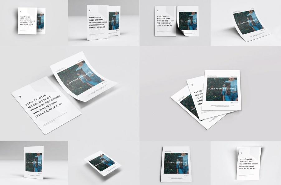 10 Editable Flyer Mockups PSD