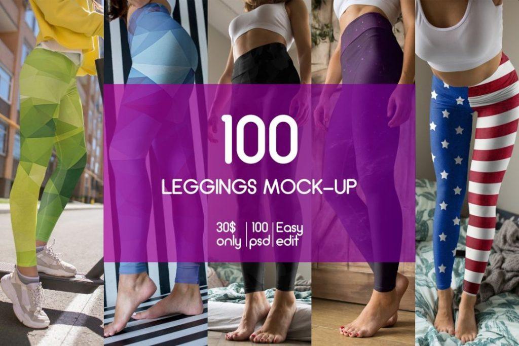 100 Legging Mockups Bundle