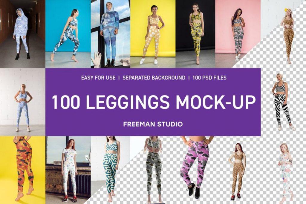 100 Leggings Mockup PSD