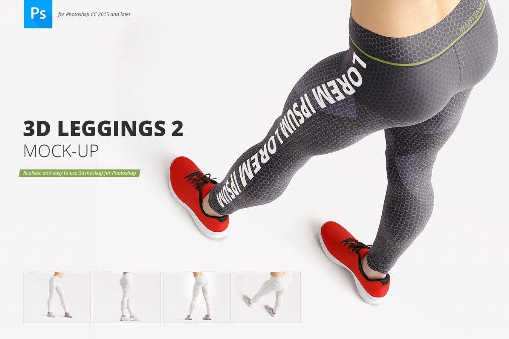 2 3D Leggings Mockup PSD