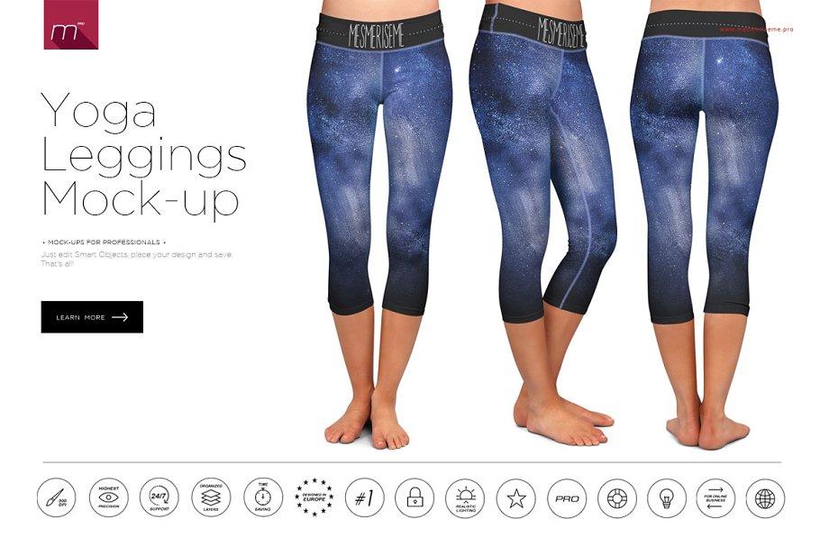 3  Yoga Leggings Mockup