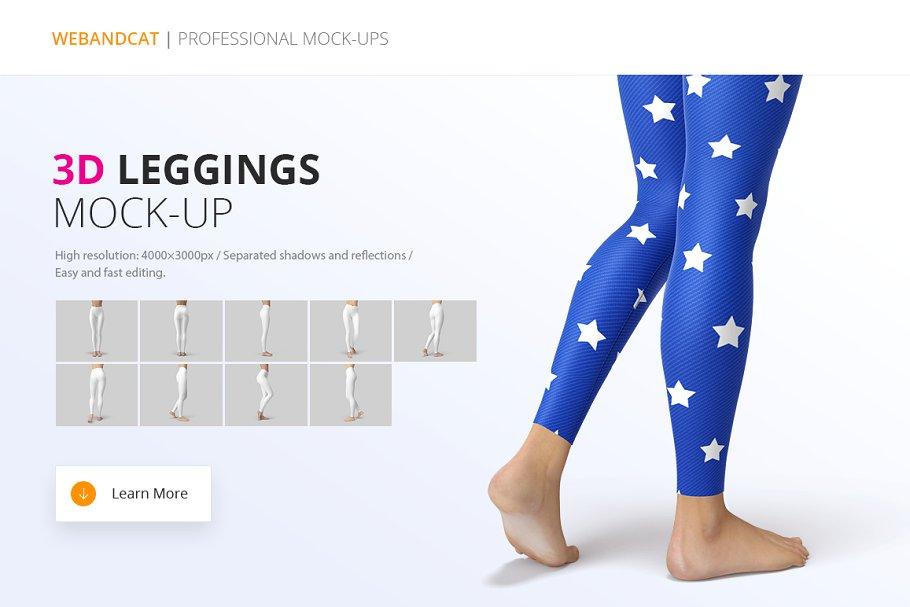 Yoga Leggings mockup psd