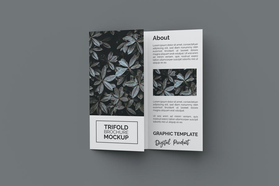 3D Tri Fold Brochure Mockup