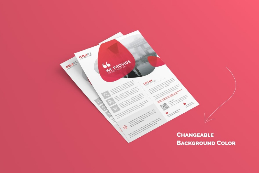 A4 and A5 Flyer Mockup PSD