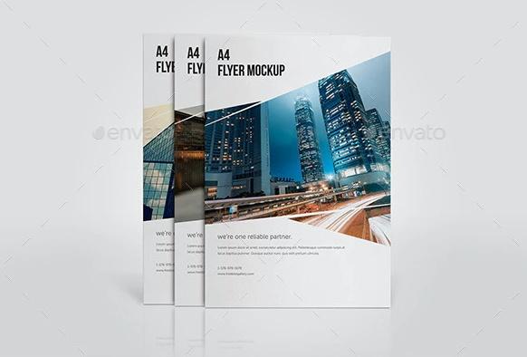 Clean Flyer Mockup PSD