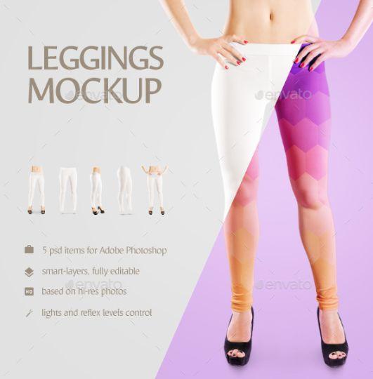 Clean Legging Mockup PSD